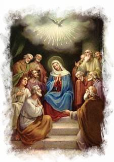 María esperando el Espíritu Santo